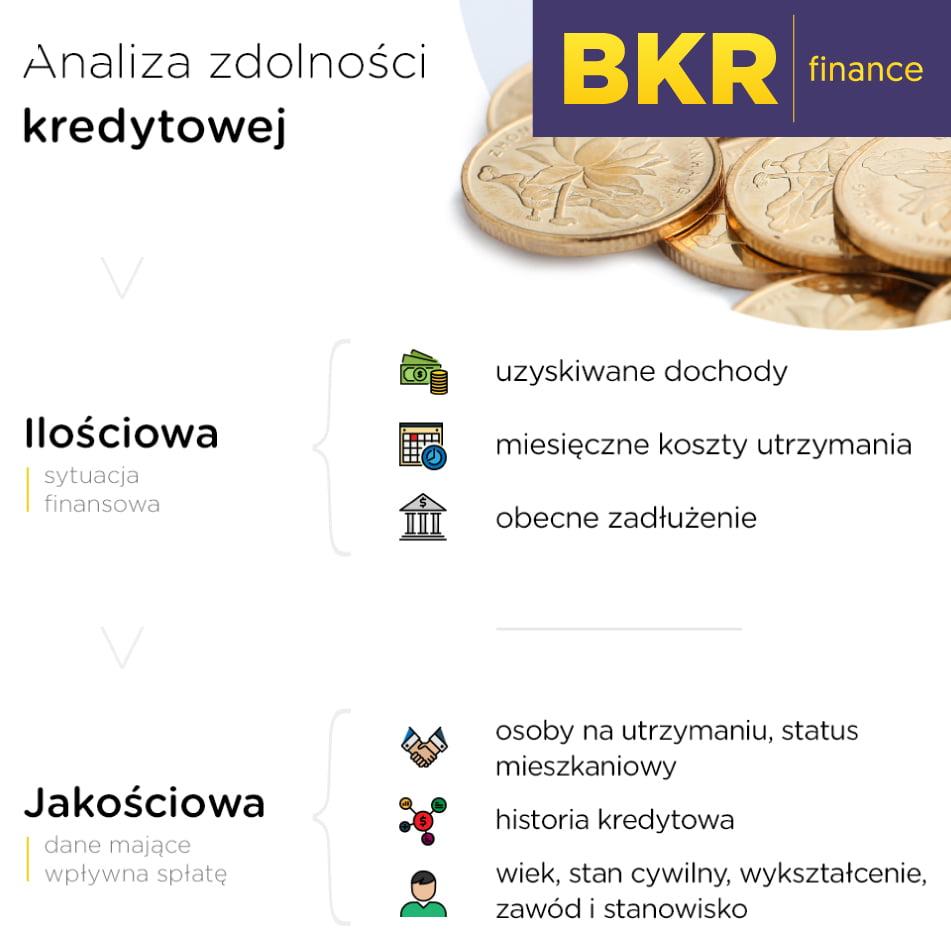 analiza zdolności kredytowej w infografice
